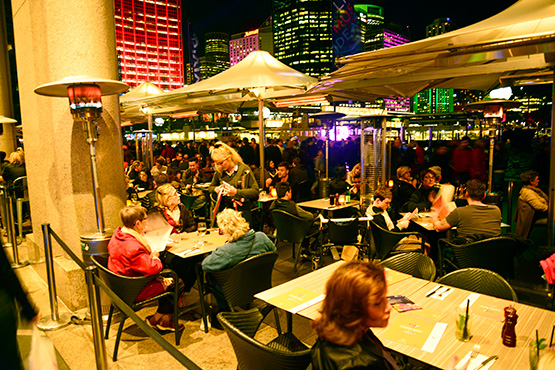 Restaurants and cafes near Circular Quay and the Sydney Opera House, Sydney