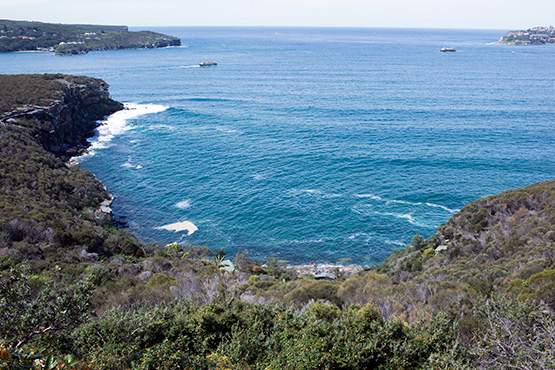 Crater Cove, Sydney, looking down from the car park at Dobroyd Head