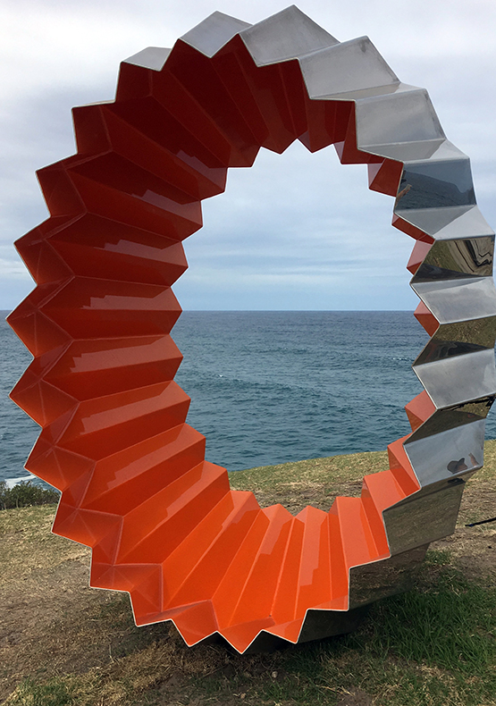 Foci by Karl Meyer, at the Scupture by the Sea exhibition 2017 on the Bondi to Tamarama coastal walk, Sydney