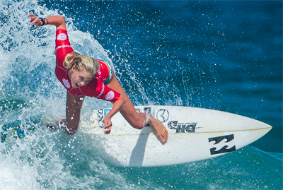Laura Enever from Narabeen in the Australian Open of Surfing at Manly 2016