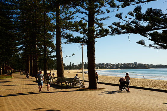 Manly surf beach promenade, Sydney