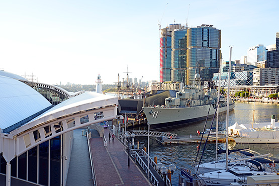 Navy destroyer at Australian National Maritime Museum, Sydney