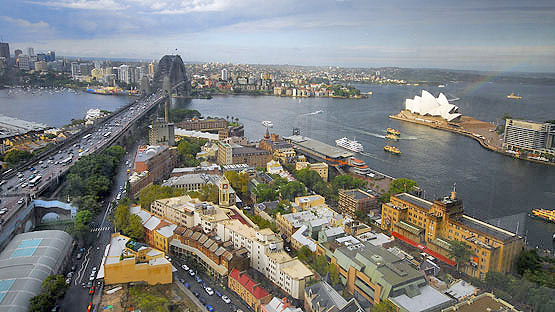 The Rocks, Sydney, from above