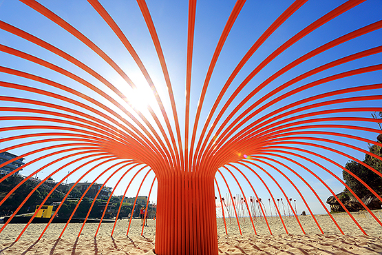 Sea Anemone, by Rebecca Rose, at the Scupture by the Sea exhibition on the Bondi to Tamarama coastal walk, Sydney