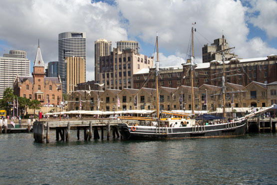 The Rocks wharves and restaurants
