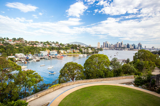 Waverton Peninsula Reserve and Sydney Harbour