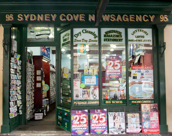 Sydney's historic newsagency in The Rocks