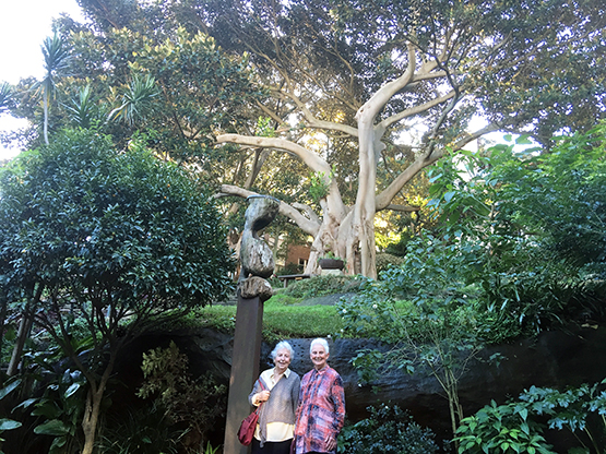 Visitors in Wendy's Secret Garden in Lavender Bay, Sydney