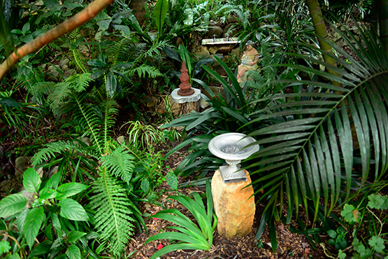 Small curiosities in Wendy's Secret Garden in Lavender Bay, Sydney